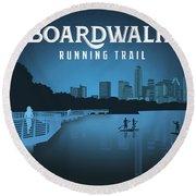 Boardwalk Running Trail Round Beach Towel