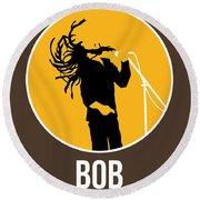 Bob Poster Round Beach Towel