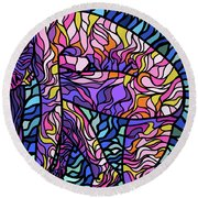 Body Of Thought #3 Round Beach Towel