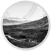 Boiling River Round Beach Towel