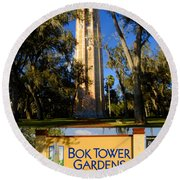 Bok Tower Gardens Poster A Round Beach Towel