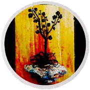 Bonsai Round Beach Towel