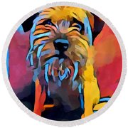 Border Terrier Round Beach Towel