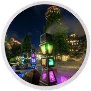 Boston Colored Steam Lights Boston Ma Rose Kennedy Greenway Steamy Round Beach Towel