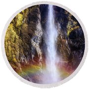 Bottom Of The Falls Round Beach Towel