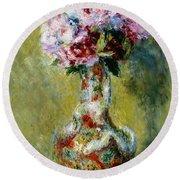 Bouquet In A Vase, 1878 Round Beach Towel