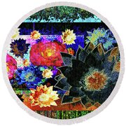Bouquet Of Gratitude And Forgiveness Round Beach Towel