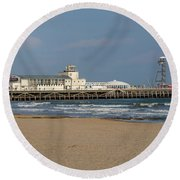 Bournemouth Pier 2 Round Beach Towel