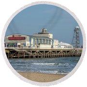 Bournemouth Pier 3 Round Beach Towel