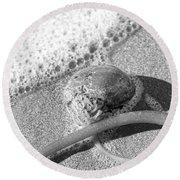 Bowling Ball Beach California Sand Story Round Beach Towel