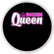 Boxing Queen Combat Martial Arts Training Round Beach Towel