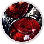 Brake Light 13 Round Beach Towel