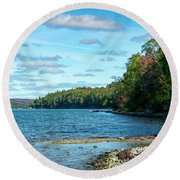 Bras D'or Lake, Cape Breton Nova Scotia, Canada Round Beach Towel