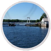 Brass Point Bridge On The Rideau Canal Ontario Round Beach Towel