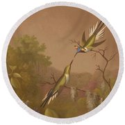 Brazilian Hummingbirds II Round Beach Towel