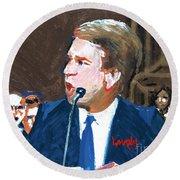 Brett Kavanaugh Testifies Before Senate Round Beach Towel