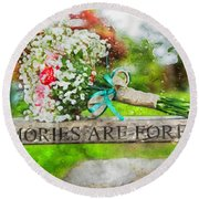 Bridal Bouquet Round Beach Towel