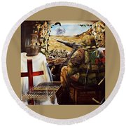 British Crusader Round Beach Towel