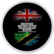 British Grown With Tanzanian Roots Round Beach Towel