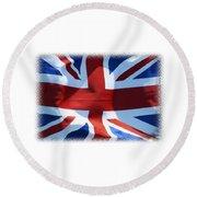 British Union Jack Flag T-shirt Round Beach Towel
