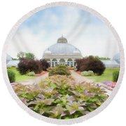 Buffalo Botanic Gardens Conservatory Round Beach Towel
