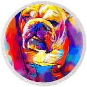 Bulldog 4 Round Beach Towel
