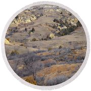 Burning Coal Vein April Reverie Round Beach Towel
