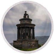Burns Monument - Edinburgh Scotland Round Beach Towel by Bill Cannon