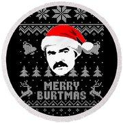 Burt Reynolds Christmas Shirt Round Beach Towel