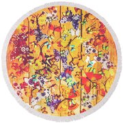 Butterfly Papercraft  Round Beach Towel