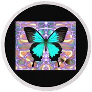 Butterfly Patterns 20 Round Beach Towel