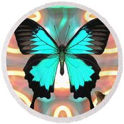 Butterfly Patterns 21 Round Beach Towel