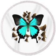 Butterfly Patterns 25 Round Beach Towel