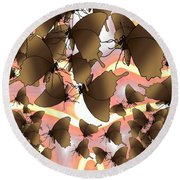 Butterfly Patterns 8 Round Beach Towel