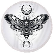 Butterfly - Vector Round Beach Towel