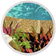 By The Pool Round Beach Towel