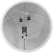 Cable Carts Round Beach Towel