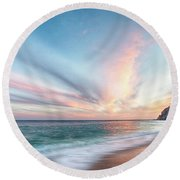 Cabo San Lucas Beach Sunset Mexico Round Beach Towel