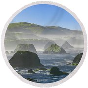 California Ocean Round Beach Towel