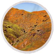 California Poppy Hills Round Beach Towel