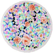 California Rose Garden Round Beach Towel
