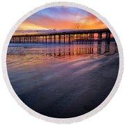 California Sunset Vii Round Beach Towel
