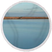 Calm Roker Panoramic Round Beach Towel
