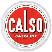 Calso Sign Round Beach Towel