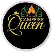 Campfire Queen Camping Caravan Camper Camp Tent Round Beach Towel