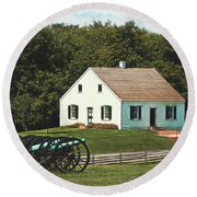 Cannons At Dunker Church Round Beach Towel