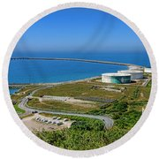 Cap Antifer Oil Terminal  Round Beach Towel