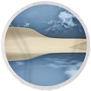 Cape Cod Reflections Round Beach Towel