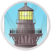 Cape Hatteras Lamp House Round Beach Towel