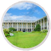 Cape May New Jersey - Congress Hall Round Beach Towel by Bill Cannon
